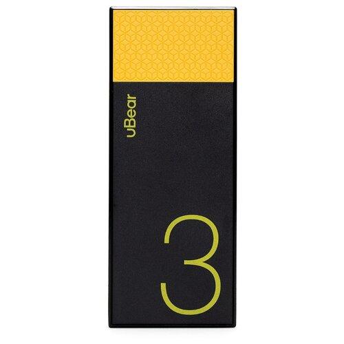 Аккумулятор uBear Light 3000, черный/желтый