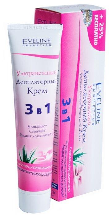 Eveline Cosmetics Депиляторный крем Ультранежный 3 в 1 с алоэ вера и протеинами шелка