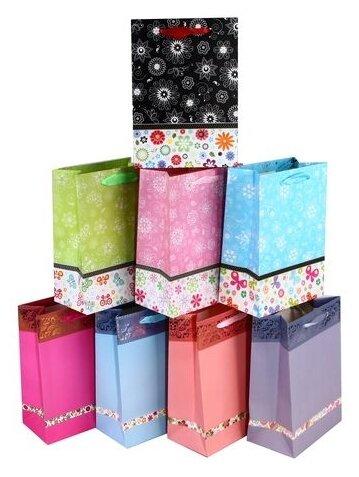 Пакет подарочный Арт & Дизайн BC премиум Новый год, 18x23x10