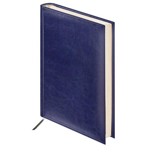 Купить Ежедневник BRAUBERG Imperial недатированный, искусственная кожа, А6, 160 листов, темно-синий, Ежедневники, записные книжки