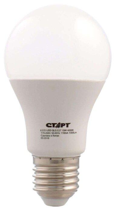 Лампа светодиодная СТАРТ Экономь ECO LED GLS, E27, 15Вт