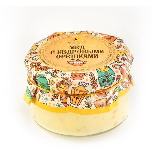 Крем-мед Мед и Конфитюр Русский стиль с кедровыми орешками 230 г