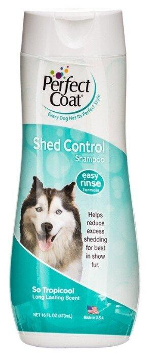Шампунь против линьки, для собак 8IN1 Perfect Coat Shed Control Shampoo 473мл.