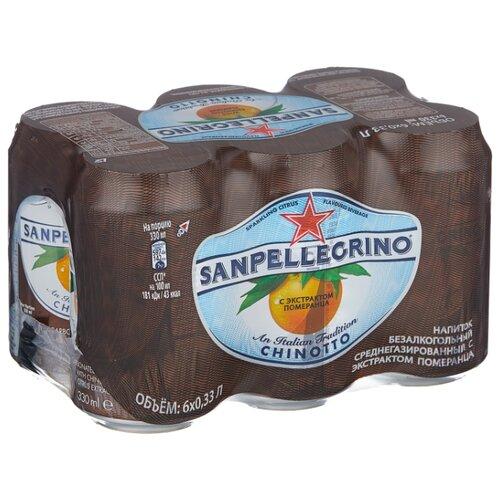 Газированный напиток Sanpellegrino Chinotto Померанец, 0.33 л, 6 шт.