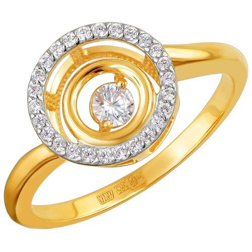 Эстет Кольцо с 27 фианитами из жёлтого золота 01К1311863Р, размер 19