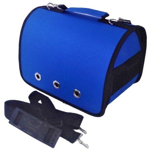 Сумка-переноска для кошек и собак LOORI Z8562 40х25х27 см синий