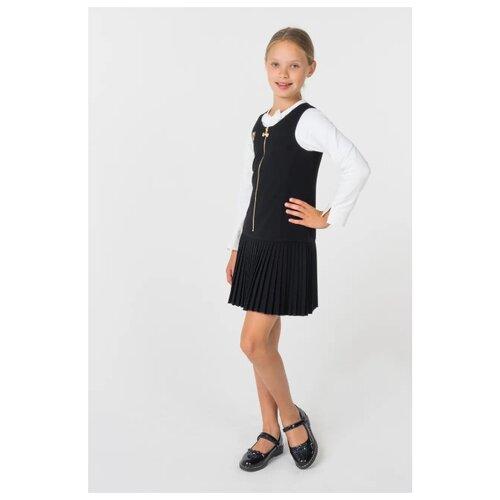 Сарафан Маленькая Леди размер 158, черный cms 20 40фигурка маленькая леди pavone