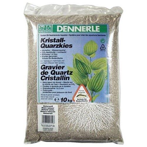 Грунт Dennerle Kristall-Quarzkies, 10 кг природный белый
