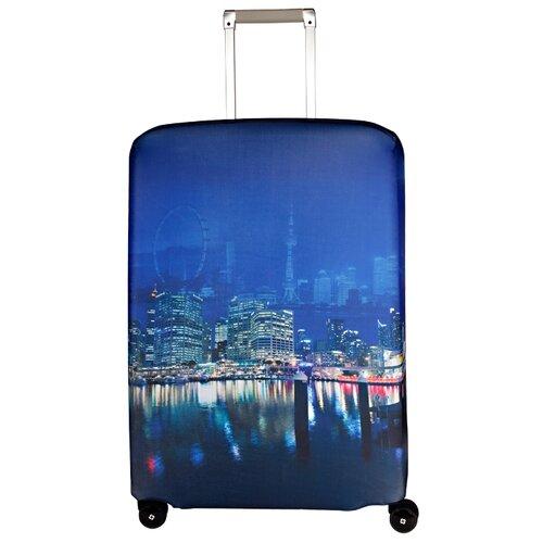 Чехол для чемодана ROUTEMARK Voyager SP240 M/L, синий чехол для чемодана routemark inmotion размер m l 65 74 см