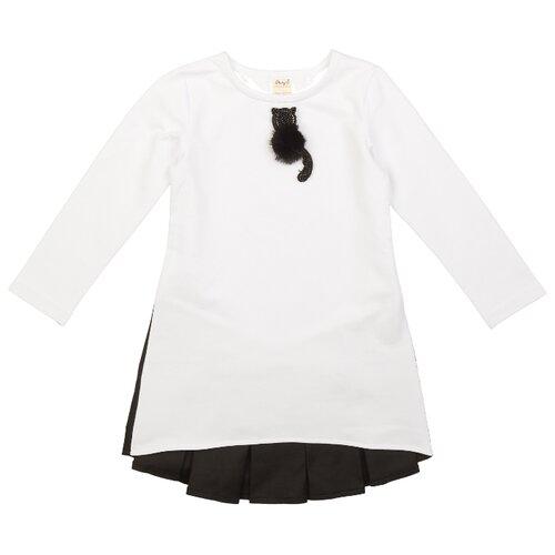Платье ЁМАЁ размер 92, белый-черный олимпийка ёмаё размер 92 черный