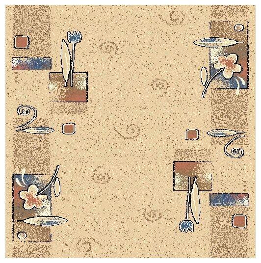 Люберецкие ковры Ковровая дорожка Цветочные Ряды бежевый 77-01 1.6x5.1 м.