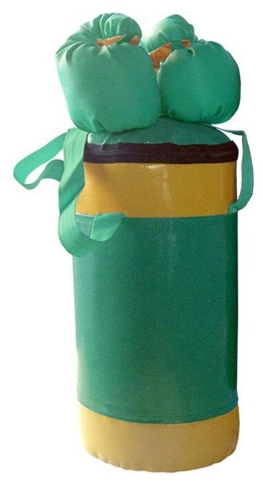 Набор боксерский детский № 2 (мешок боксерский 5 кг. + перчатки + трос) зелёно/желтый