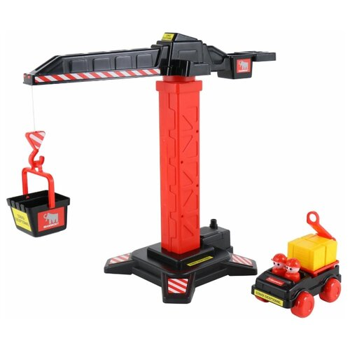 Набор техники Полесье Mammoet (65315) черный/красный набор машин полесье трейлер и трактор погрузчик mammoet volvo 204 03 57105 черный красный