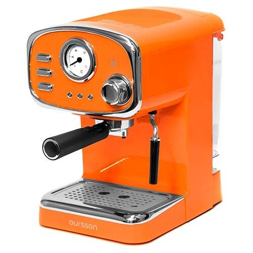 Фото - Кофеварка рожковая Oursson EM1505, оранжевый кофеварка oursson cm0400g оранжевый