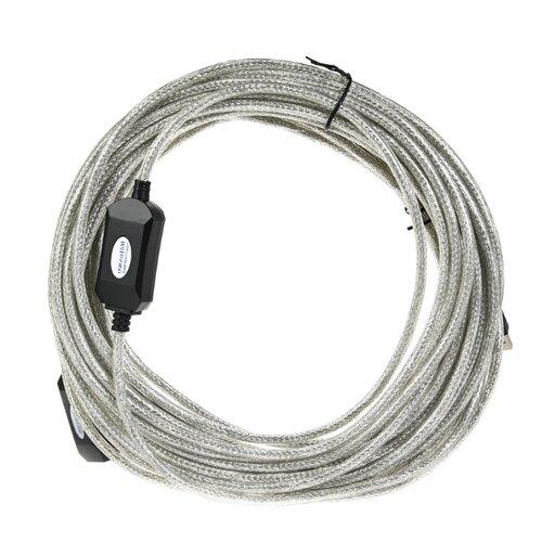 Удлинитель Aopen USB - USB (ACU823) 15 м прозрачный
