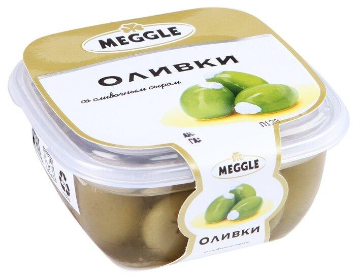 MEGGLE Оливки со сливочным сыром, пластиковая банка 230 г