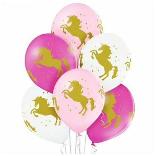 Набор воздушных шаров Belbal 1103-1675 Единорог (25 шт.) розовый/белый