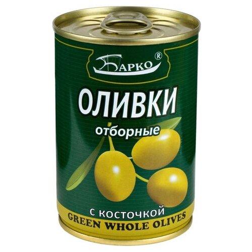 БАРКО Оливки с косточкой отборные, жестяная банка 280 мл acorsa оливки черные c косточкой жестяная банка 7500 г