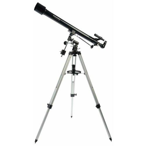 Фото - Телескоп Celestron PowerSeeker 60 EQ черный/серый телескоп celestron powerseeker 80 eq салфетки из микрофибры в подарок