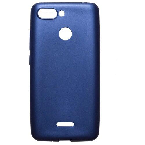 Чехол Akami Soft-touch для Xiaomi Redmi 6 темно-синий