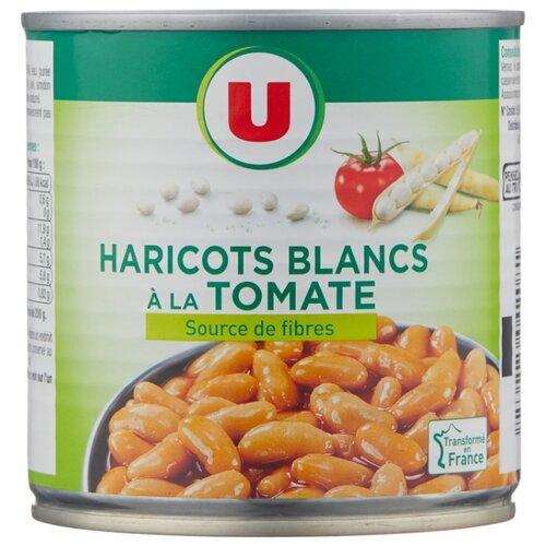 Фасоль Systeme U белая в томатном соусе, жестяная банка 400 г