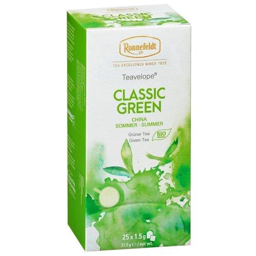 Чай зеленый Ronnefeldt Teavelope Classic green в пакетиках, 25 шт.