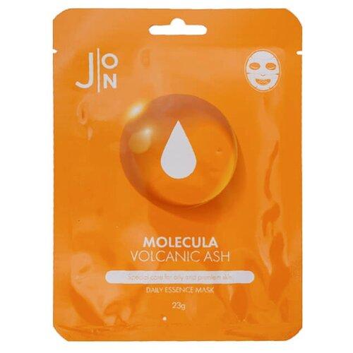 J:ON тканевая маска Molecula Volcanic Ash Daily Essence Mask с вулканическим пеплом, 23 г phyto therapy mask тканевая маска с алоэ противовоспалительная sheet aloe polyphenol moisturizing