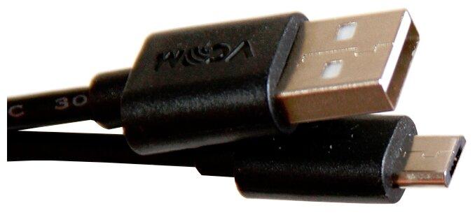 Кабель VCOM USB - microUSB (VUS6945) 1.8 м черный фото 1