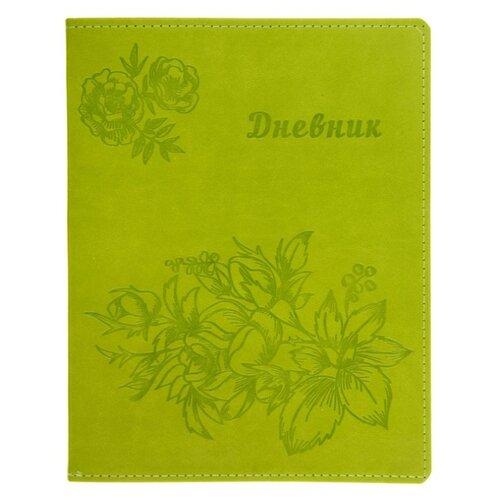 Calligrata Дневник Vivella Цветы зеленый calligrata дневник школьный супертачки 3