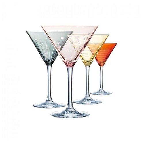 Eclat Набор бокалов Illumination Colors L7603 300мл 4 шт прозрачный/оранжевый/голубой/розовый