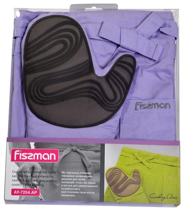 Подставки под горячее, прихватки Fissman Фартук и рукавица-прихватка (текстиль + силикон)