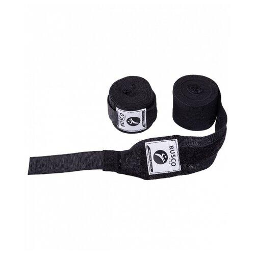 Кистевые бинты RUSCO SPORT 4,5 м черный кистевые бинты rusco sport 2 5 м хаки