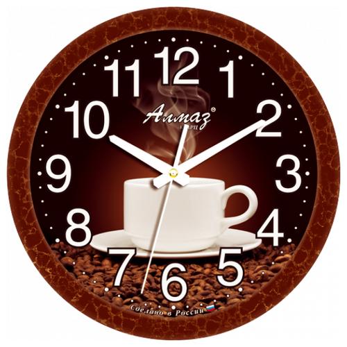 Фото - Часы настенные кварцевые Алмаз B06 темно-коричневый часы настенные кварцевые алмаз b97 коричневый бежевый