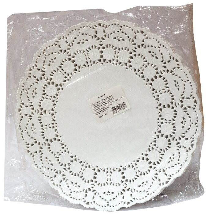 Салфетки Aviora круглые ажурные диаметр 104-061 30 x 30 250 шт.