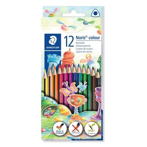 Купить Staedtler Карандаши цветные Noris Colour 187, 12 цветов (187C12), Цветные карандаши
