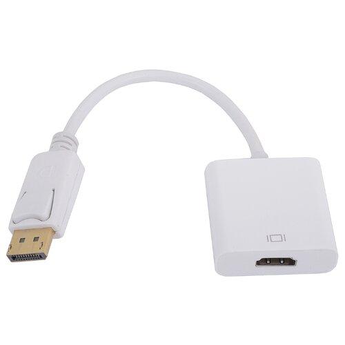 Фото - Переходник VCOM DisplayPort - HDMI (CG553) 0.1 м белый переходник displayport to dvi 1 8м vcom telecom ta668 1 8m