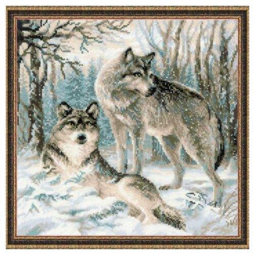 Фото - Риолис Набор для вышивания крестом Волчья пара 40 x 40 (1393) риолис набор для вышивания крестом русская охота 60 x 40 1639