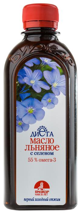 Биокор Масло льняное с селеном, пластиковая бутылка