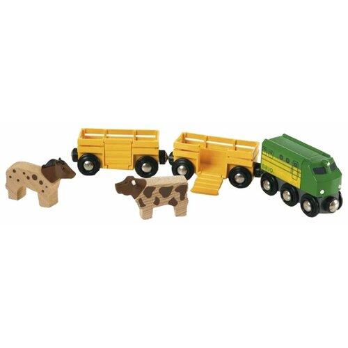 Brio Поездной состав Фермерский поезд, 33404