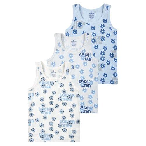 Купить Майка BAYKAR размер 86/92, серый/голубой/молочный, Белье