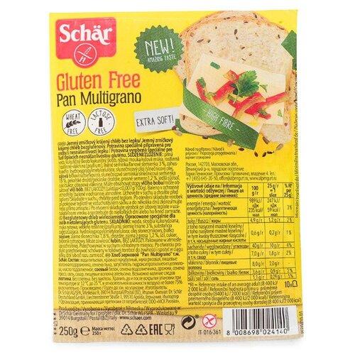 Schar Хлеб PAN MULTIGRANO, рисовая мука, зерновой, без глютена, в нарезке 250 г