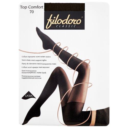 Фото - Колготки Filodoro Classic Top Comfort, 70 den, размер 5-XL, Mineral (серый) колготки filodoro classic top comfort 70 den размер 5 xl mineral серый