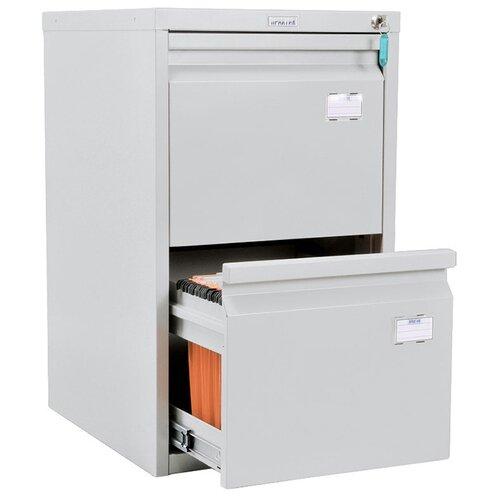 Шкаф офисный ПРАКТИК А-42 40.8x48.5x68.5 см серый полуматовый (RAL 7038)
