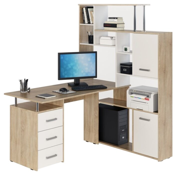 Компьютерный стол угловой Фабрика мебели JAZZ КС-15 — купить по выгодной цене на Яндекс.Маркете