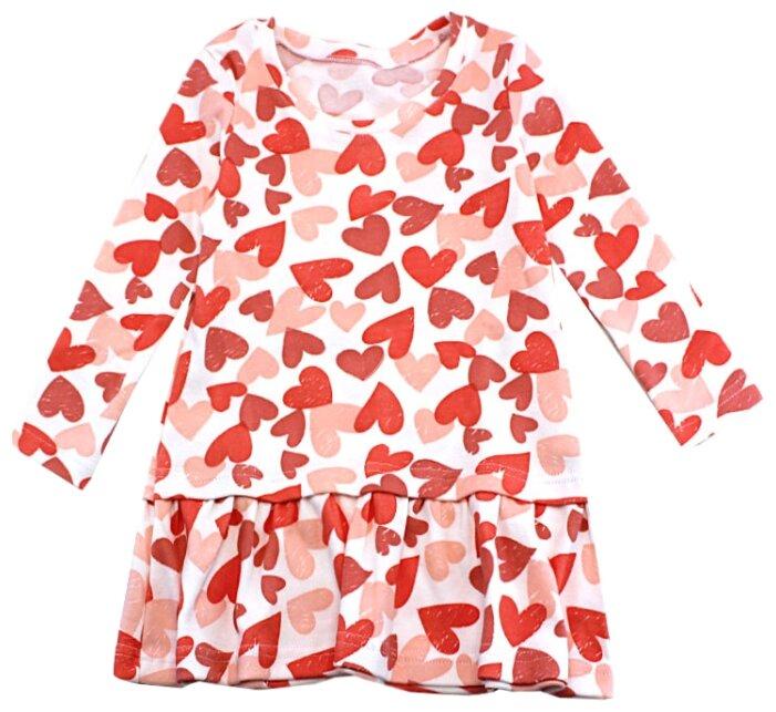 Платье TREND размер 122-64(32), 4031 белый/сердечки