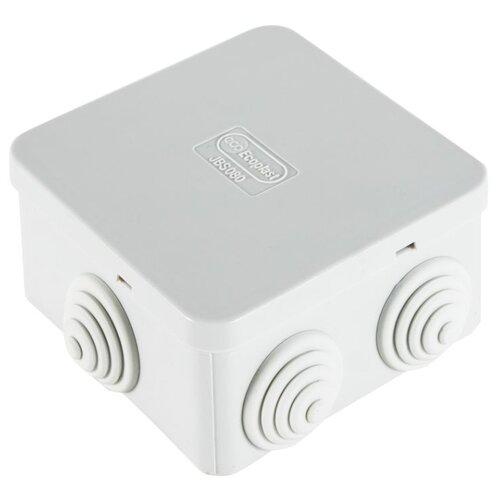 Распределительная коробка Ecoplast JBS080 (44006) наружный монтаж 85x85 мм RAL 7035
