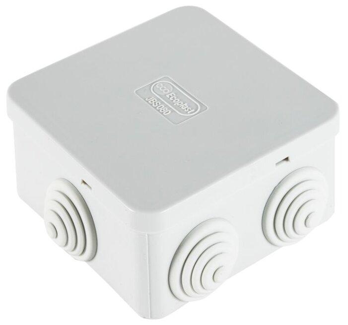 Распределительная коробка Ecoplast JBS080 наружный монтаж 85x85 мм