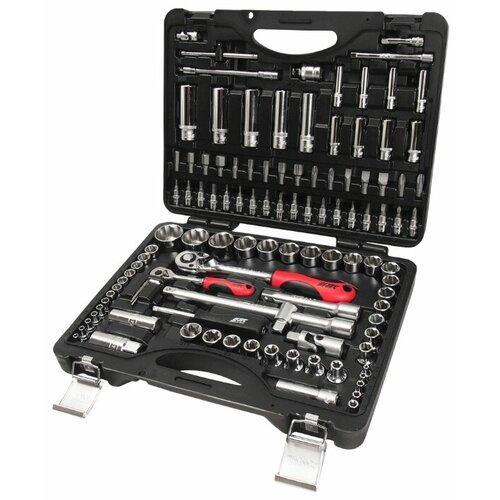 Набор инструментов JTC AUTO TOOLS (110 предм.) S110B-B72 черный набор инструментов 1 4 и 1 2 6 гранный 85 предметов jtc h085c b72