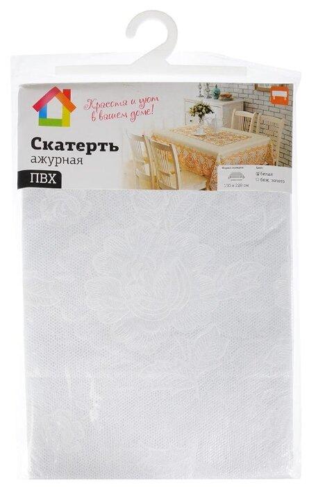 Скатерть Vetta Ажурная 430-108 150х228 см белый