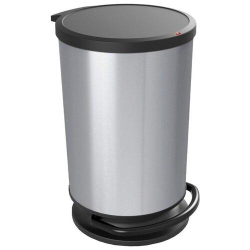 Ведро Rotho Paso 1010110264, 30 л серебро/металл